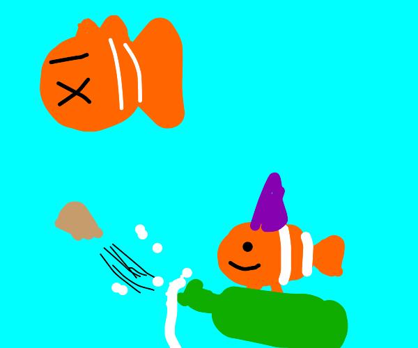 Nemo glad his dad is dead.
