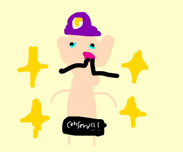 Naked Waluigi (censored)
