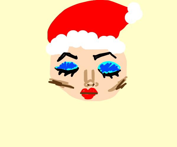 Santa starts a makeup channel