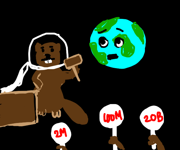 Beaver auctioning a Planet