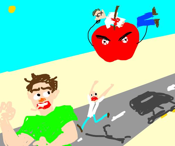angry apple kills people