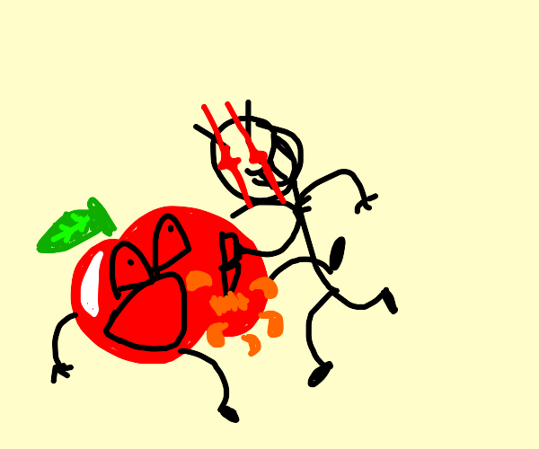 man kills apple