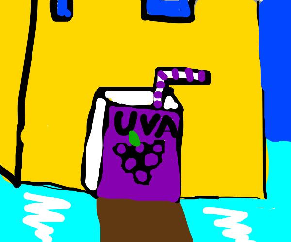Dark castle of grape juice ocean