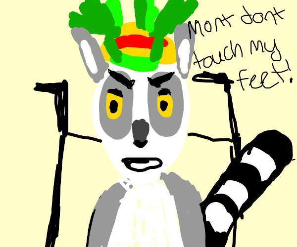 Cripples king Julien cannot move it move it