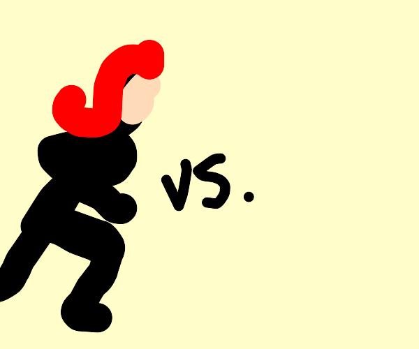 Black Widow vs. nothing