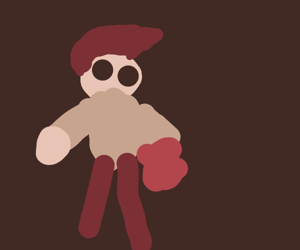rockstar using depressed poorly made puppet