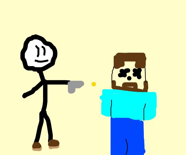 henry stickman kills steve minecraft