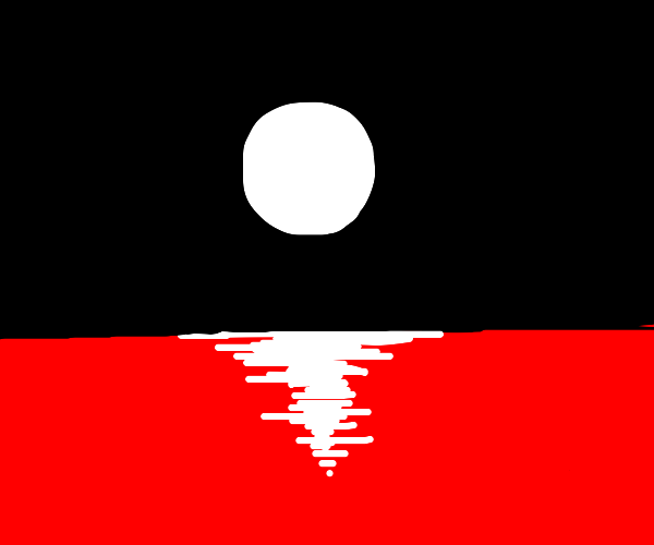 Full moon over blood lake