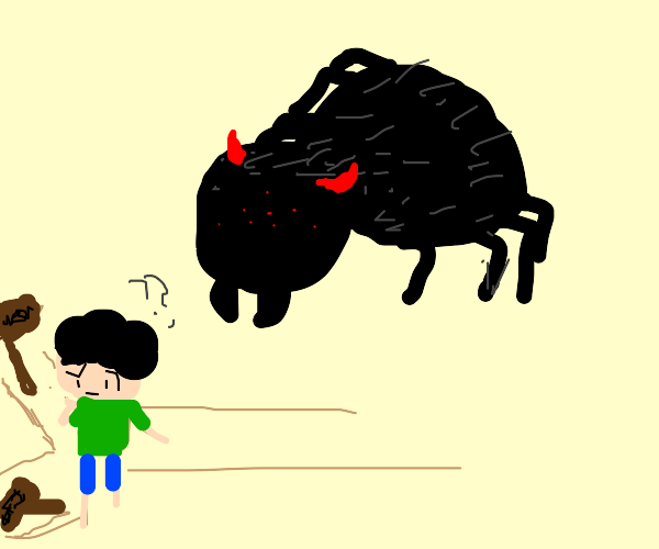 Spider Demon comes for a lost man