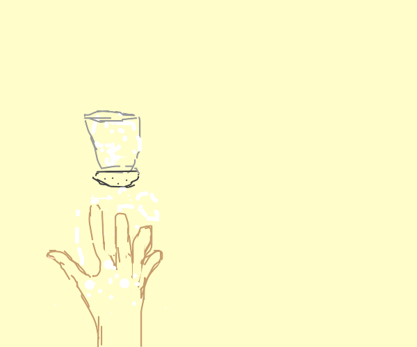 Put salt on your hand