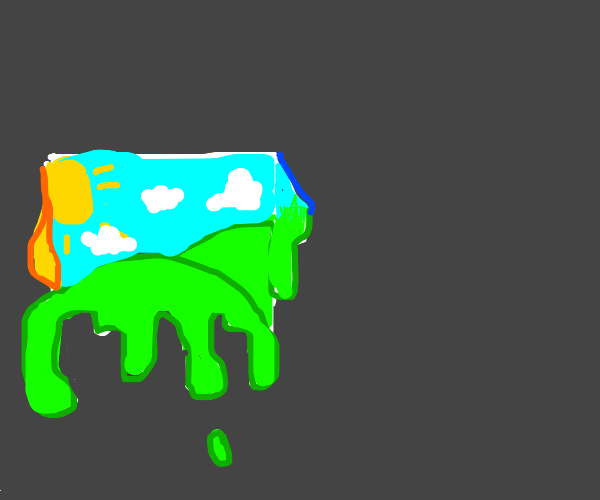 One of our paintings is melting