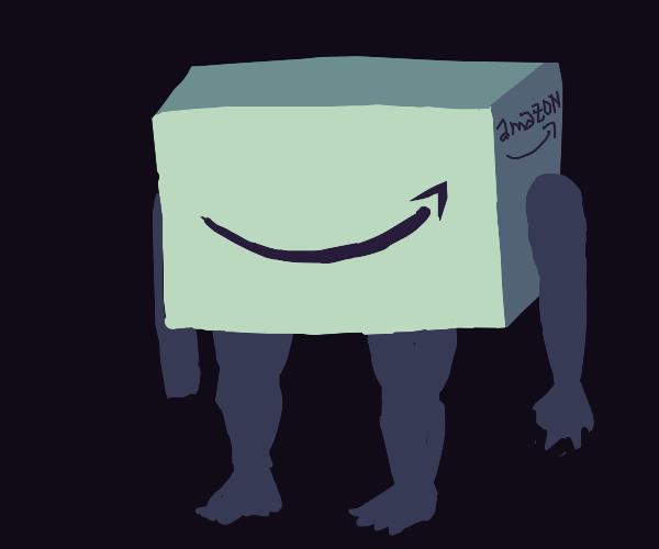 Amazon box with limbs