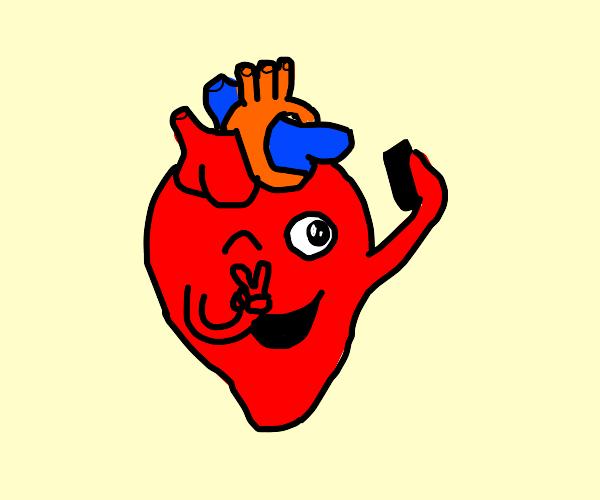 heart taking a selfie