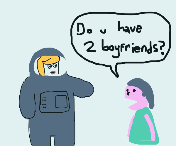 girl asks the she-astronaut if she has 2 bfs