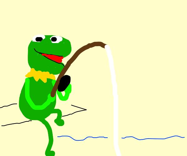 Kermit fishing