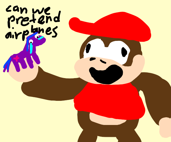Diddy Kong with an MLP Figure