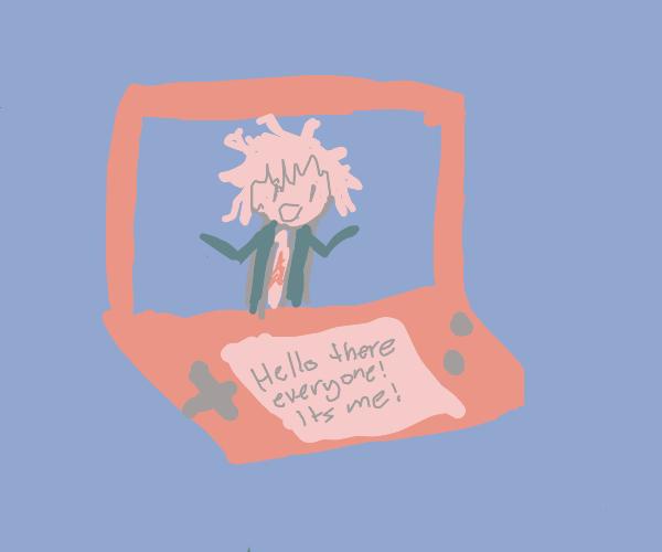 Nagito Komaeda on the Nintendo DS