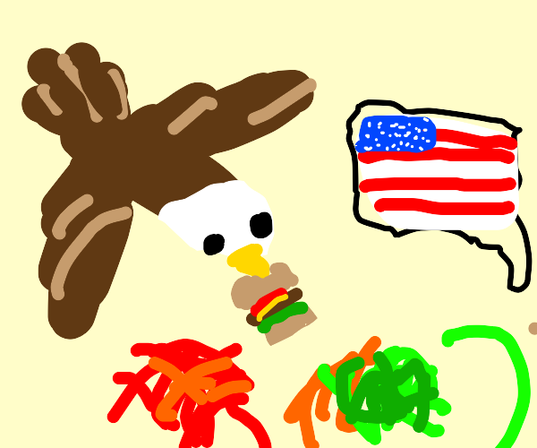 eagle presents usa burger