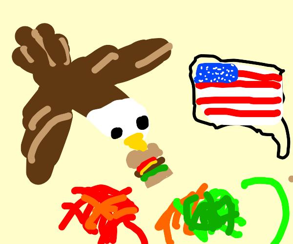 eagle presents usa burger