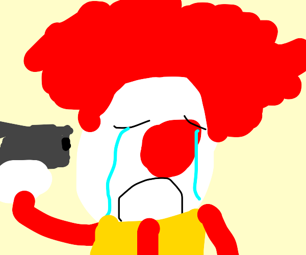 A really depressed clown