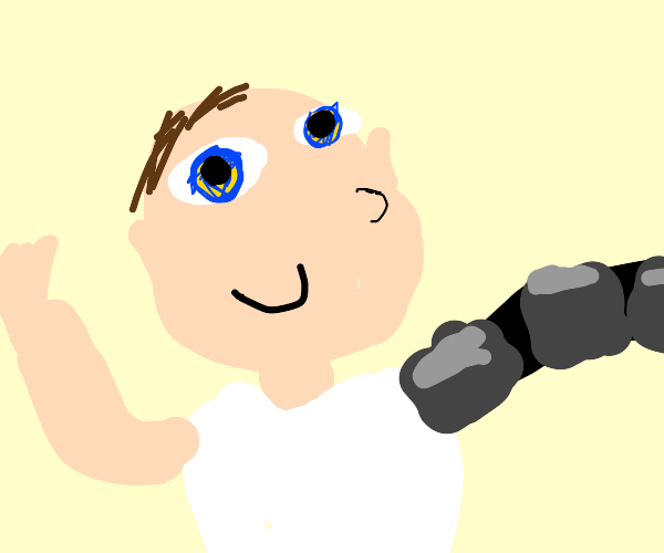 Baby with robotic arm