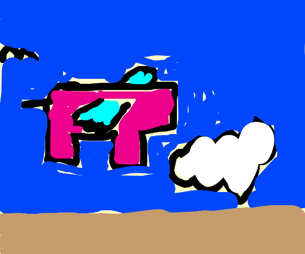 flying pig without a head