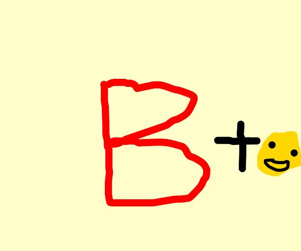 Red B emoji