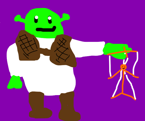 shrek becomes puppeteer