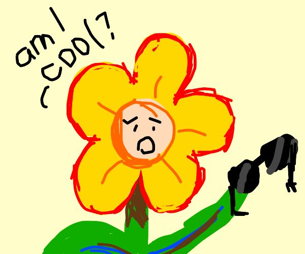 Flower having a crisis if they're cool or not