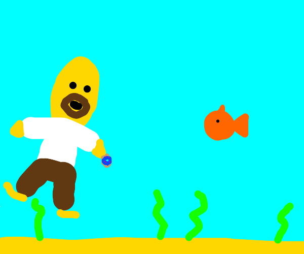 Homer simpson in water