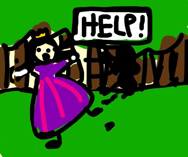 Princess escapes through forest