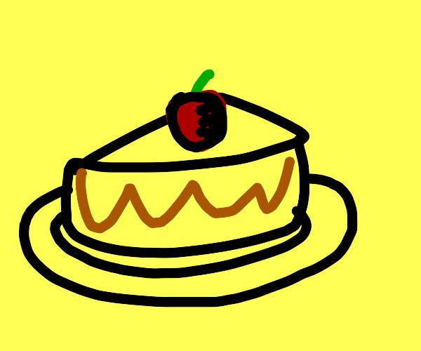 Cheese cake with cherry