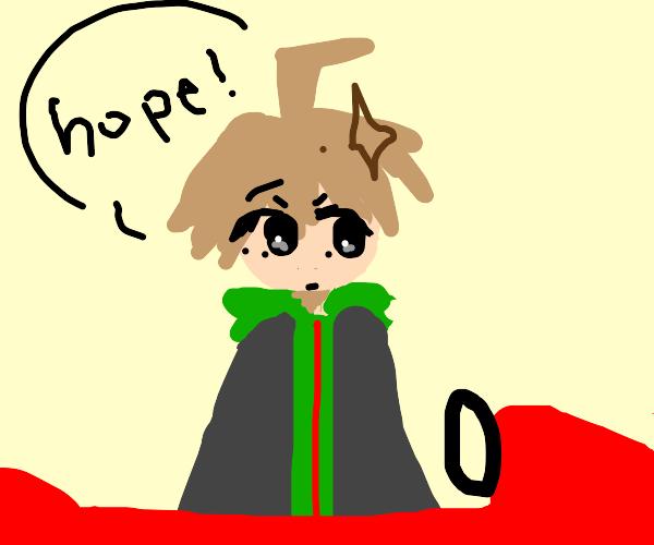 Makoto in a car saying hope