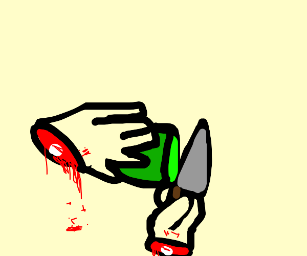 A severed hands tries to cook dinner