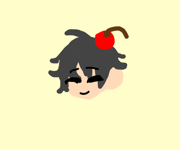 happy dude with a cherry hat