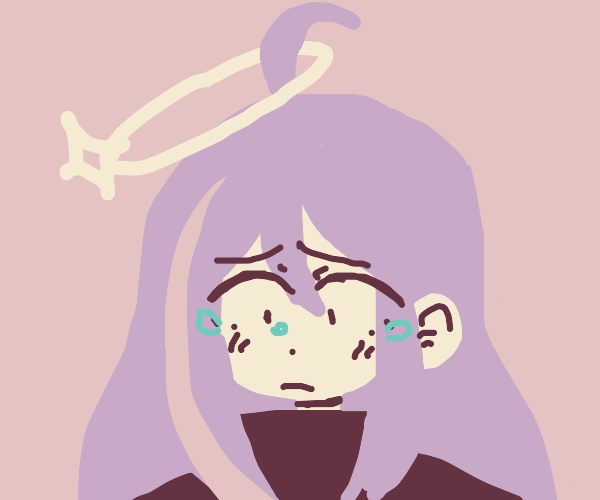 crying angel girl