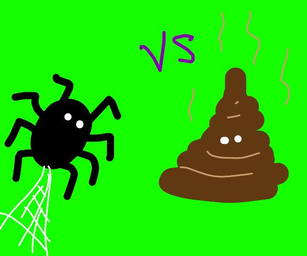 spider vs turd