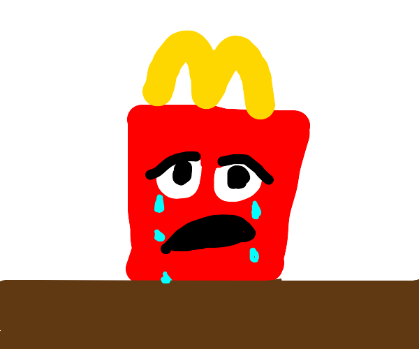 happy meal is crying
