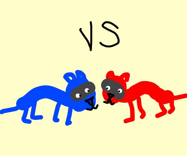red weasel vs. blue weasel