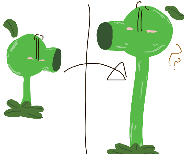 pea shooter evolution