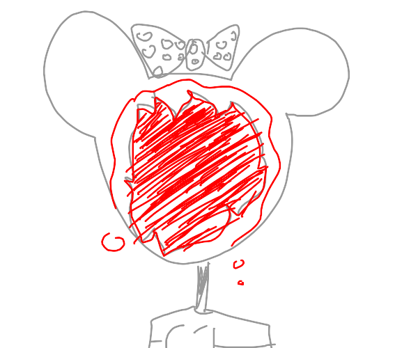 Minnie Mouse lost their face
