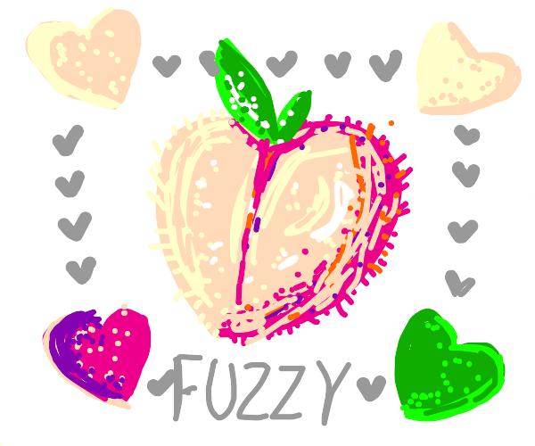a fuzzy peach
