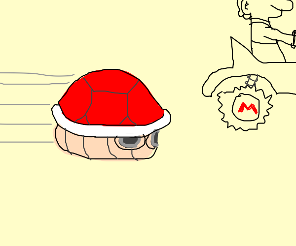 Red turtle shell from Mario kart