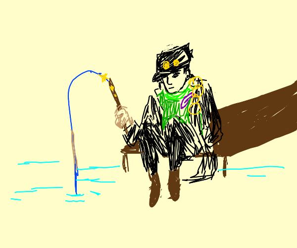Jotaro Kujo fishing
