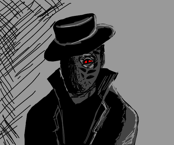 shadowy man is half cyber demon