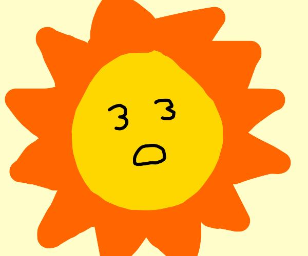 The sun is blind
