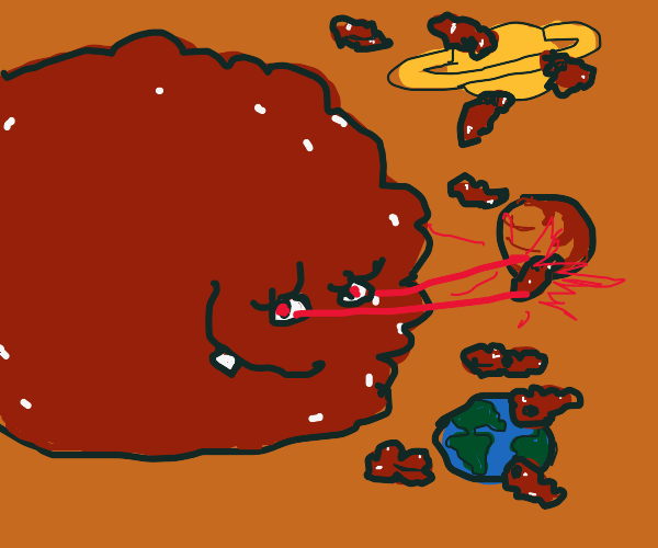 meatballs are yummy and destroy planets