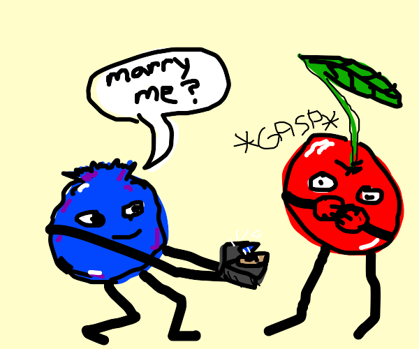 Blueberry proposes to cherry