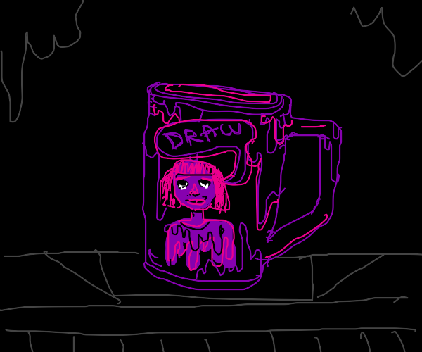 """a mug that has a lady on it that says """"draw"""""""