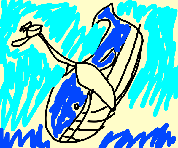 Helicopter carrying off wailord